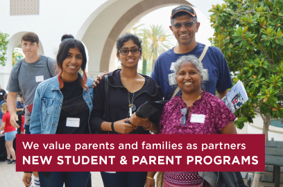 We value parents and family as partners. Find out how with New Student and Parent Programs.