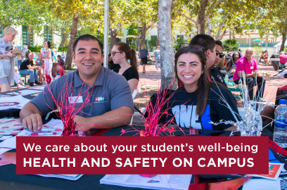 We care about your student's well-being. Check out health and safety on campus.