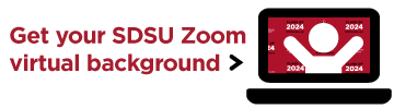 Download a Zoom virtual background now and show your SDSU spirit!