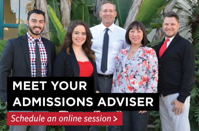 Meet your admissions adviser and schedule an online session.