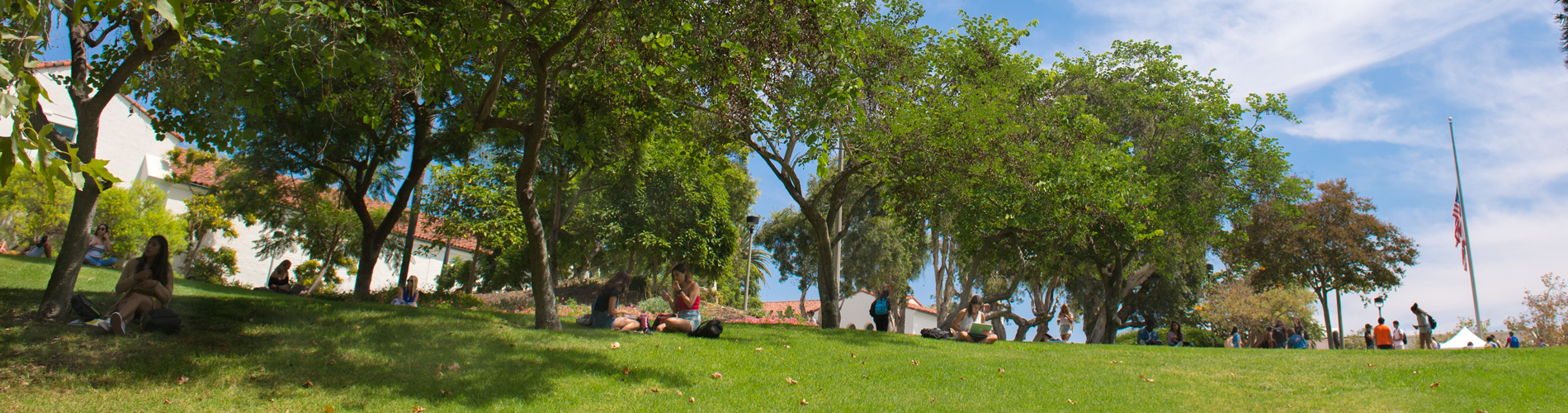 Scripps Cottage hill, a popular study spot.