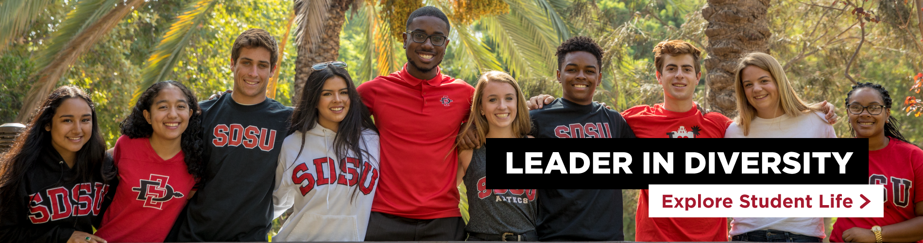 Leader in Diversity. Explore Student Life.